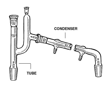 PYREX®, CLAISEN CONNECTING TUBES, WEST CONDENSER, JOINTS